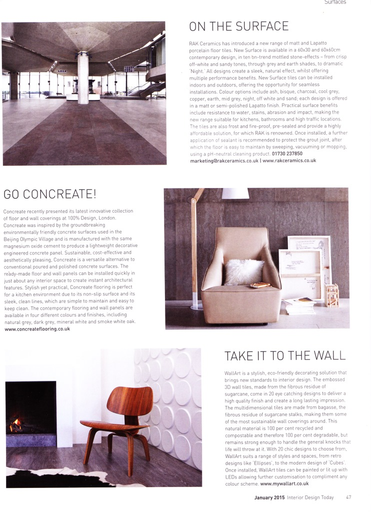 Interior Design Today Jan 2015 - Pg 47 - Compressed