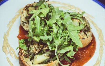 Knish - Potato, Broccoli Rabe, Spinach, Kasha, Russian Dressing