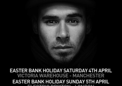 Afrojack UK Tour 2015 Artwork
