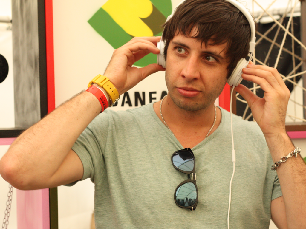 Example in Urbanears at Lovebox Festival