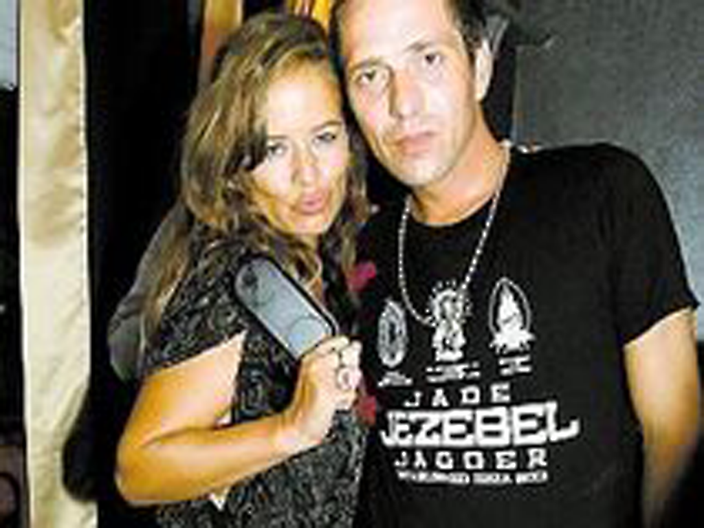Jade Jagger with Pacemaker