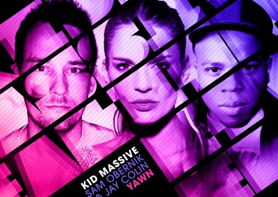Kid Massive, Sam Obernik & Jay Colin - Yawn - Final Artwork_WEB
