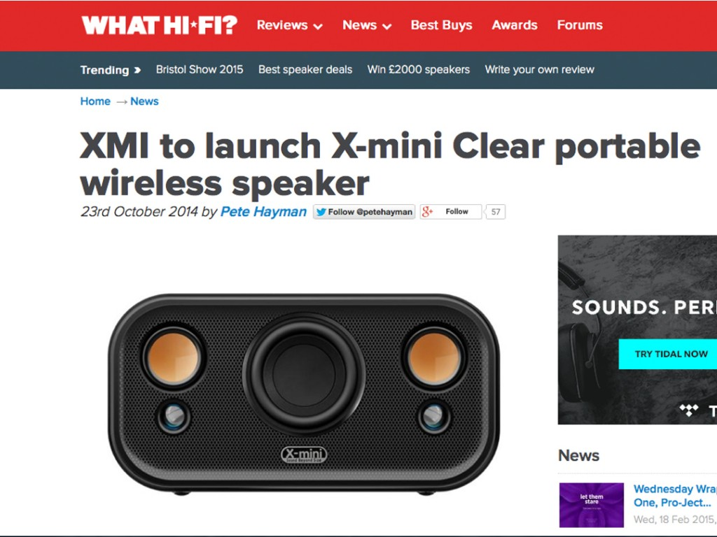 X-mini CLEAR in What Hi-Fi