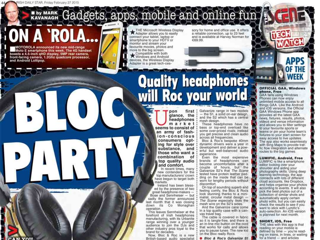 Bloc & Roc heavily featured in Irish Daily Star