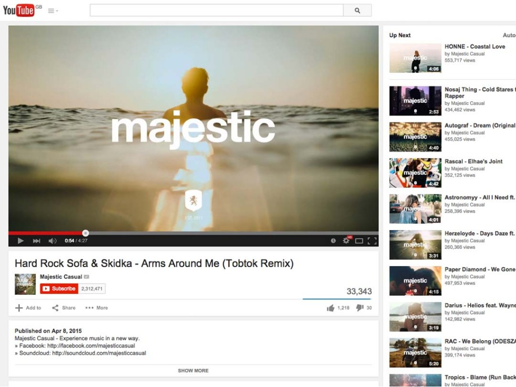New Tobtok remix featured on Majestic Casual