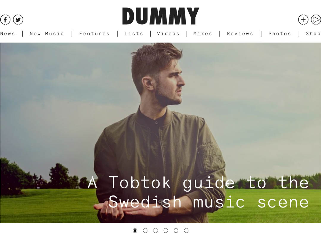 Tobtok Feature On Dummy Mag Sliding Doors Publicity