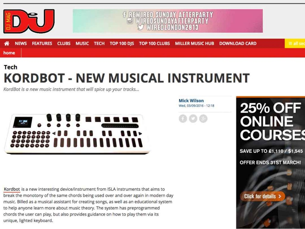 Kordbot Featured in DJ Mag
