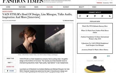 VAIN Fashion Times Interview 1