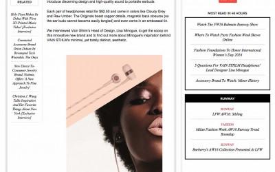 VAIN Fashion Times Interview 2