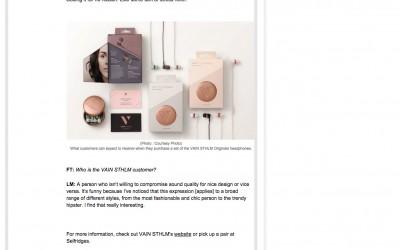 VAIN Fashion Times Interview 6