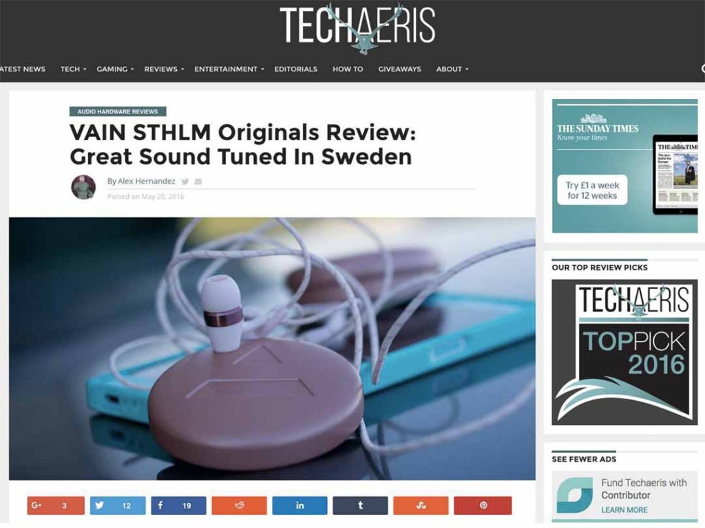 VAIN STHLM Reviewed By Techaeris
