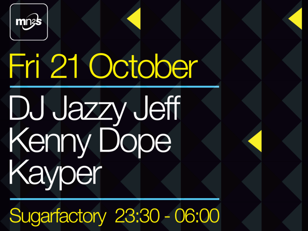 DJ Jazzy Jeff & Kenny Dope to play MN2S at ADE 2016