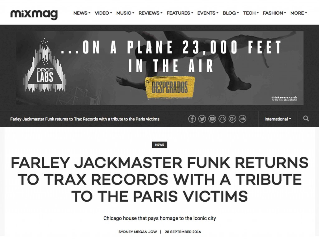 Mixmag Covers Farley Jackmaster Funk France Charity Project