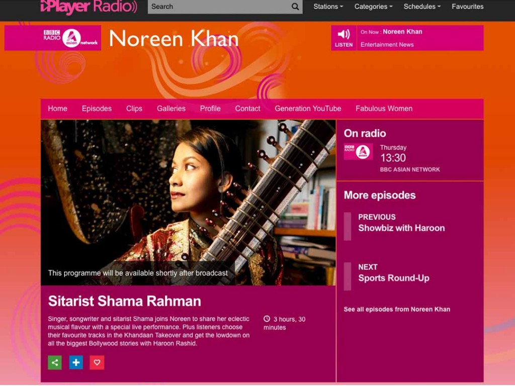 Shama Rahman Live On BBC Asian Network