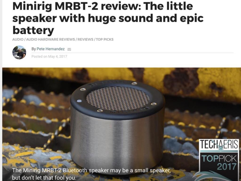 Upgraded Minirig Wins Techaeris Top Pick 2017
