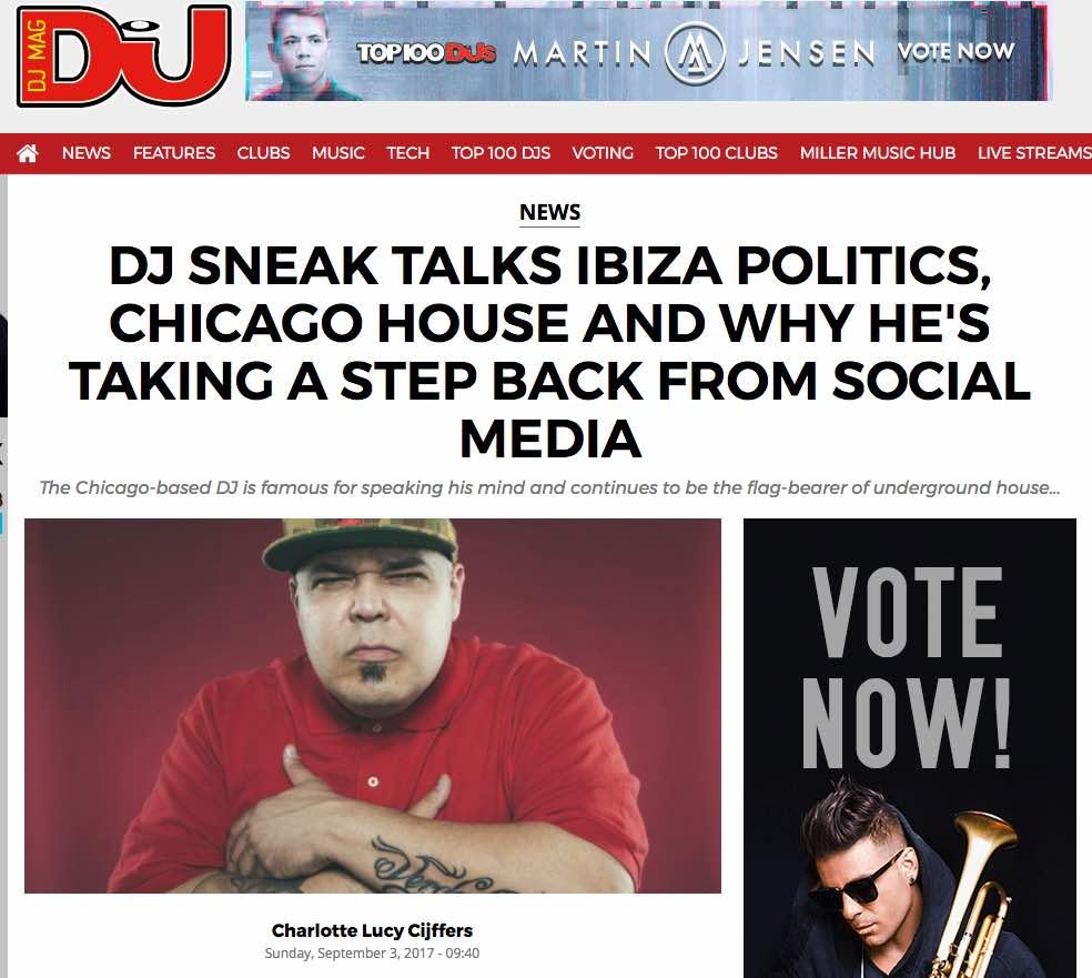 DJ Sneak Interview In DJ Mag | Sliding Doors Publicity