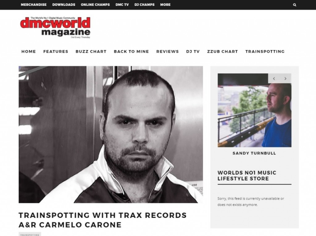 TRAX Records' Carmelo Carone goes Trainspotting for DMC