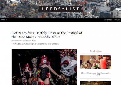 Leeds List Features Festival Of The Dead