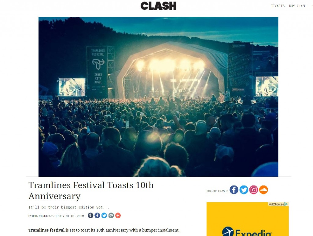 Clash Toasts Tramlines Festival Tenth Year