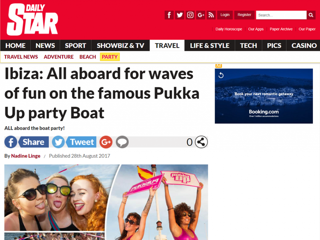 Daily Star Boards The Famous Pukka Up Boat Party