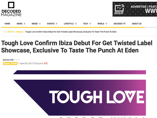 Taste The Punch Ibiza in Decoded Mag