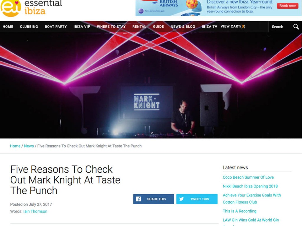 Taste The Punch & Mark Knight In Essential Ibiza