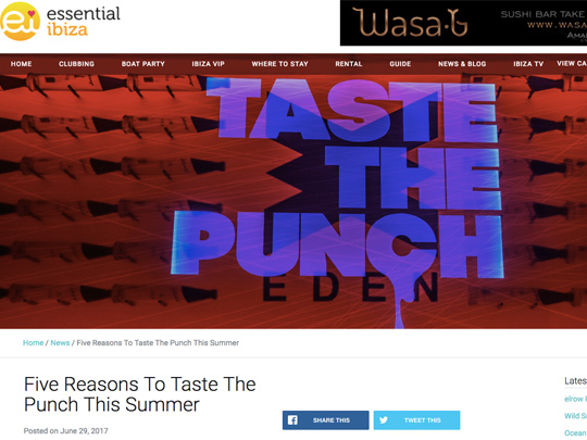 Taste The Punch In Essential Ibiza
