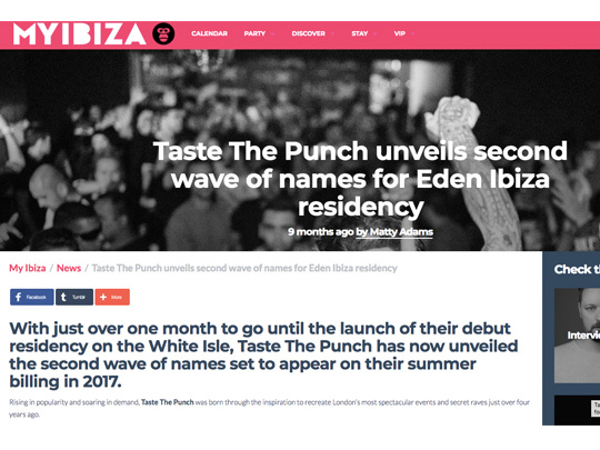 Taste The Punch Ibiza in My Ibiza TV