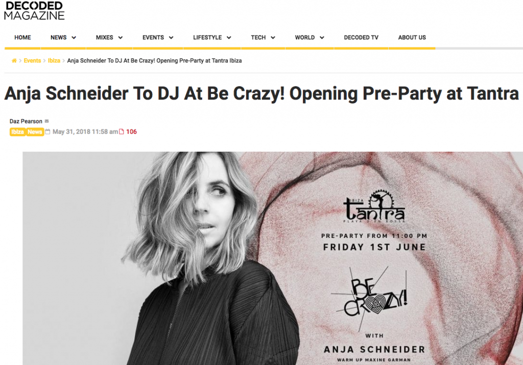 Decoded Magazine Announce Tantra's Opening party