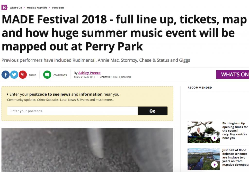 Birmingham Mail Announce MADE Festival's Full Line-up