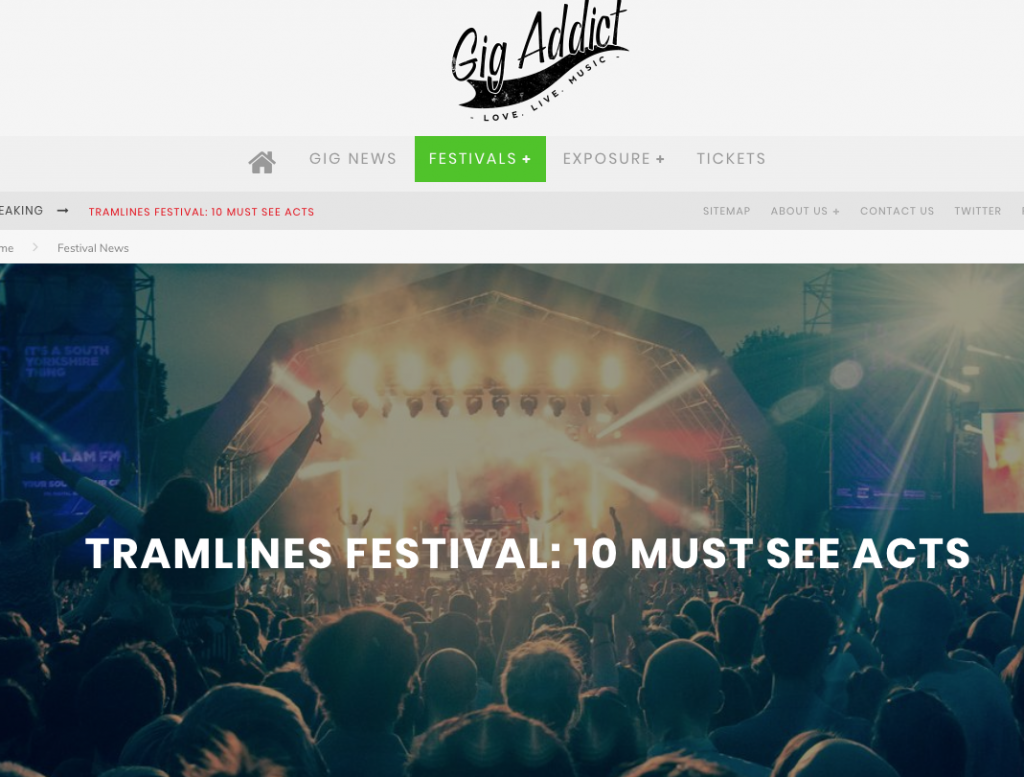 Gig Addict Highlight 10 Acts to See at Tramlines Festival