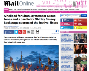 Daily Mail Speak to Tramlines Director Sarah Nulty