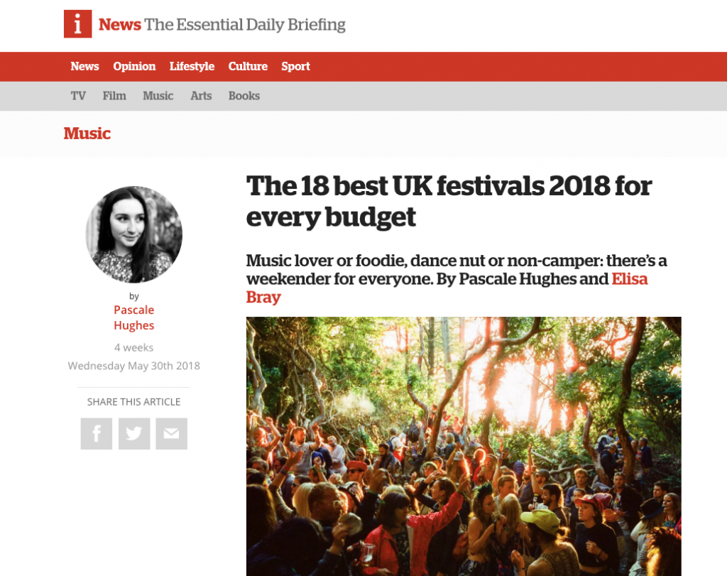 iNews Highlight Tramlines Festival in 2018 Guide