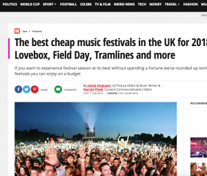 The Mirror Include Tramlines in Their Affordable Festivals Guide