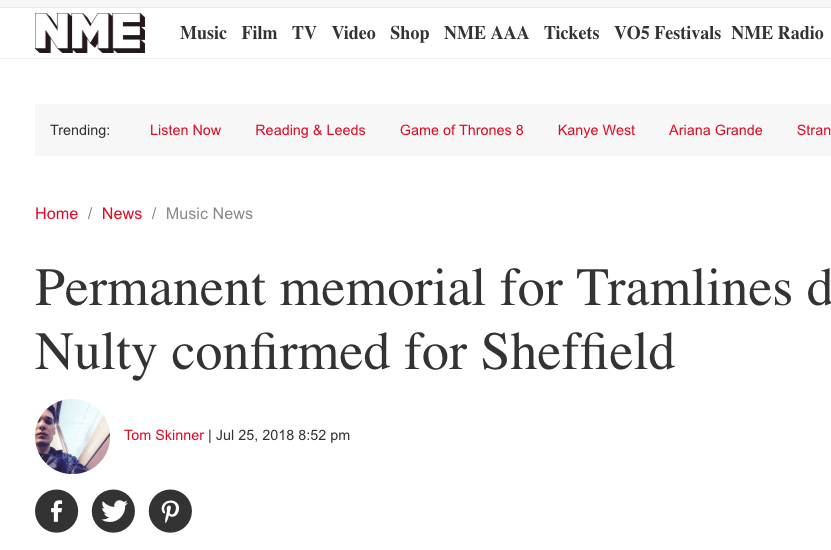 NME Have News of a Memorial For Tramlines Director Sarah Nulty