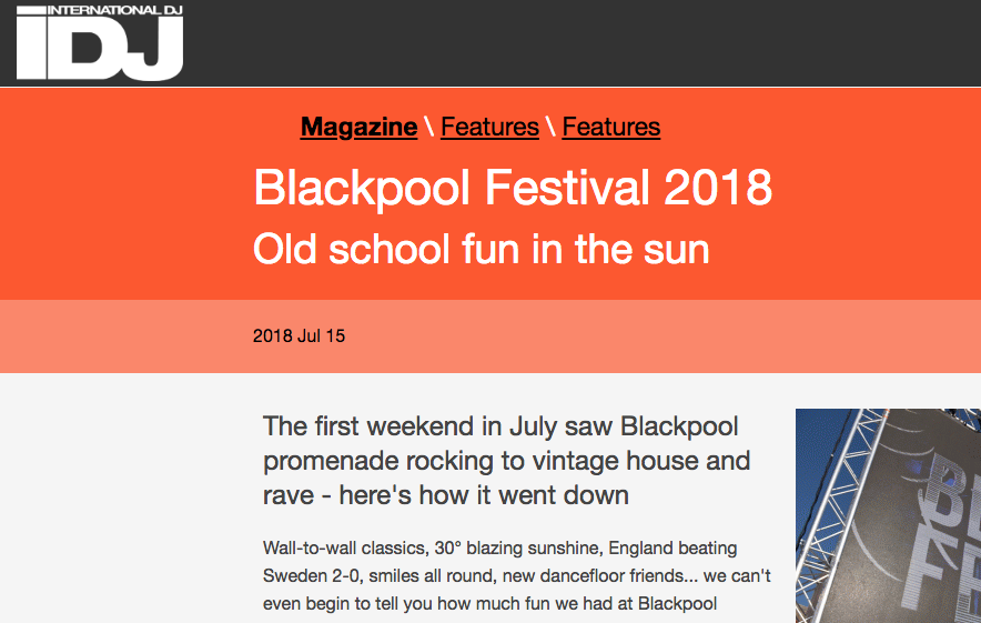 iDJ Captures Blackpool Festival in Pictures
