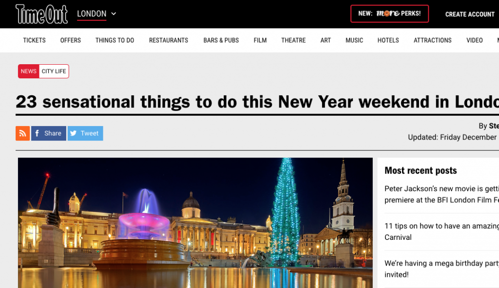 Festival of Light Included in Time Out's New Year's Eve Guide