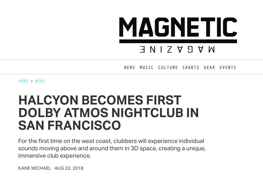 Magnetic Mag Announce Halcyon's New Dolby Atmos Sound System