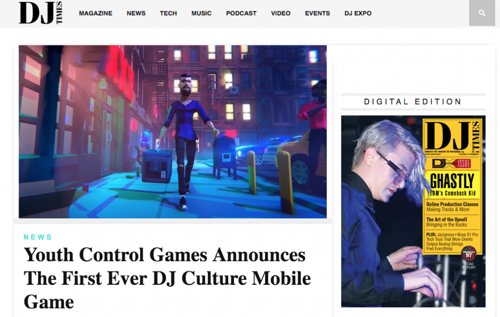DJ Times Have News on Youth Control Games's First Ever DJ Culture Mobile Game