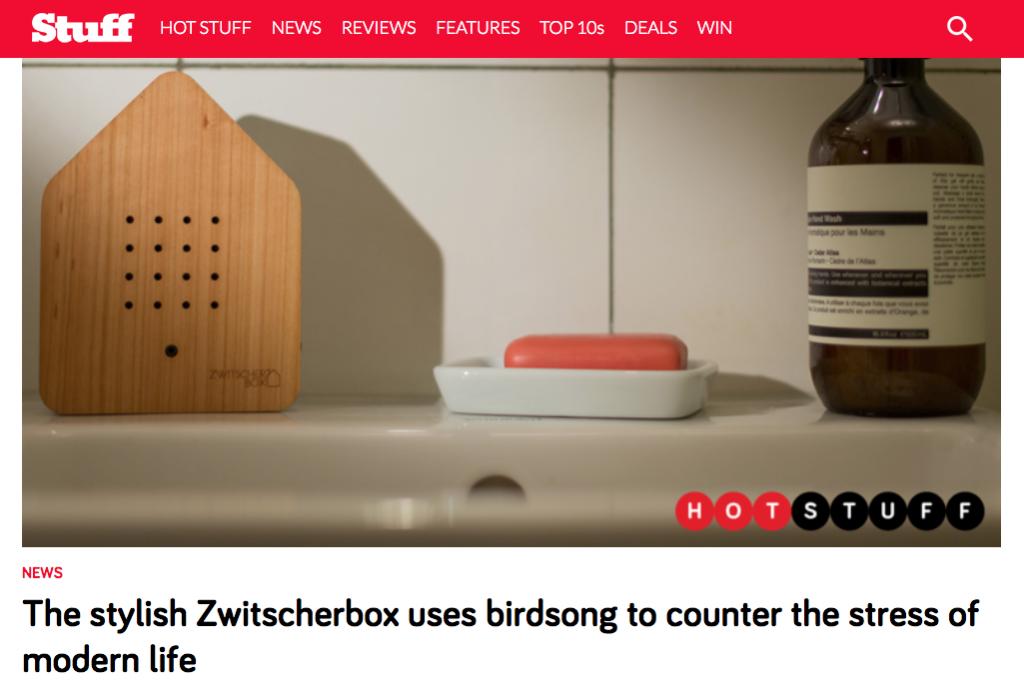 Zwitscherbox featured in Stuff.tv
