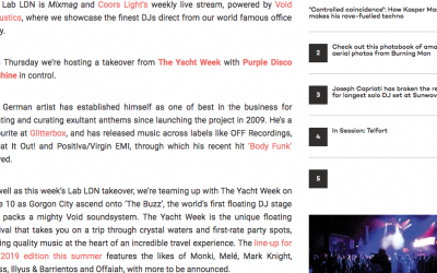 Mixmag The Yacht Week Purple Disco Machine 2