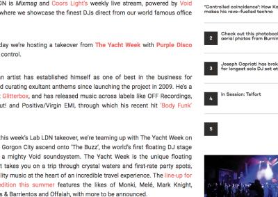 Mixmag The Yacht Week Purple Disco Machine 2