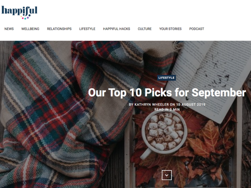 Happiful Includes Arts by the Sea in Their 'Top 10 Picks' for September 2019