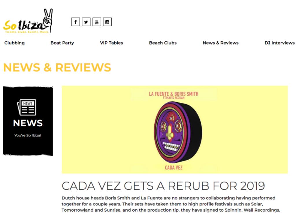 So Ibiza Host b2b Interview With La Fuente & Boris Smith Following 'Cada Vez' Rebirth on Perfect Havoc
