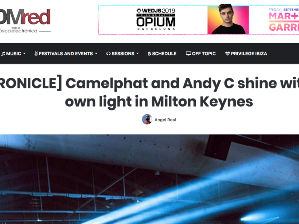 Our Next Event Shines in EDM Red Review as Andy C and Camelphat Shut Down MK Arena
